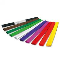 Бумага цветная крепированная (НАБОР) 10кольорив 250мм / 210мм