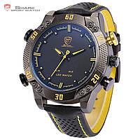 Мужские часы SHARK LED Digital Yellow Date Day