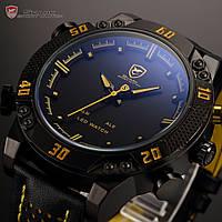 Мужские наручные часы SHARK LED Digital Yellow Date Day Sport