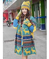 Женский зимний набор шапка+шарф