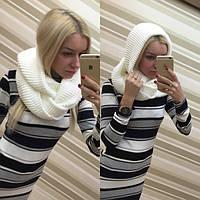 Женский модный шарф-хомут (снуд) в расцветках