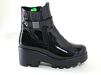 Кожаные ботинки на тракторной подошве в наличии