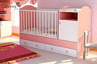 """Детская кровать-трансформер """"Sweet"""", Lanami (от 0 до 12 лет)"""