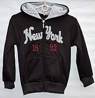 Кофта-батник для мальчика 7-10 лет New York черная - 104-250