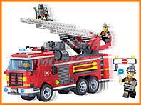 """Конструктор """"Пожарная машина с командой"""" 364 детали Brick"""