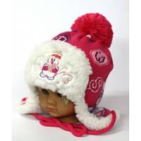 """Очень теплая и красивая шапочка девочке 1-3 лет """"Снежка"""""""