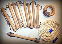 Набор деревянных спортивных аксессуаров для турника или спортуголка