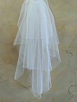 Свадебная фата бисер - 3х-ярусная №34