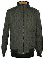 Мужская демисезонная куртка на синтепоне в мелкий ромб. Mark Bogner Romb, оливковая