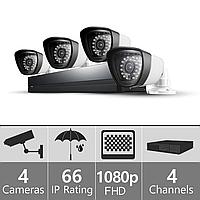 Комплект 4 видеонаблюдения FullHD-4 (1980×1080)