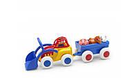 Машинка Трактор с прицепом и животными Viking Toys 1234
