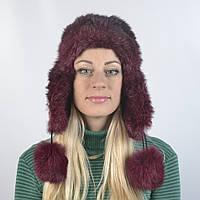 Женская шапка из натурального меха кролика (код 29-251)