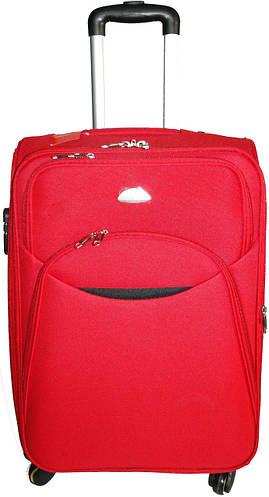 Средний яркий тканевый 4-колесный чемодан 56 л. Suitcase 013754-red красный