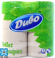 Туалетная бумага Диво серая двухслойная (4 рул/уп)
