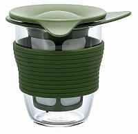 Кружка с ситечком Hario для заваривания чая 200 мл зеленая