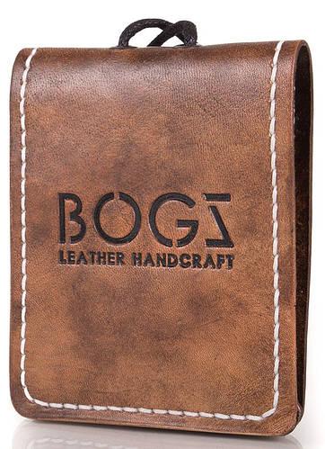 Кожаное стильное портмоне для мужчин BOGZ (БОГЗ) BZ-4-A113 коричневый