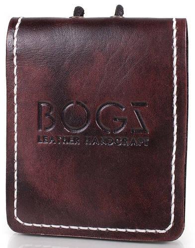 Оригинальное мужское портмоне из кожи BOGZ (БОГЗ) BZ-4-A112 бордовый