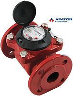 Счетчик Apator PoWoGaz MWN 130-40 (ГВ) горячей воды турбинный Ду-40 сухоход промышленный