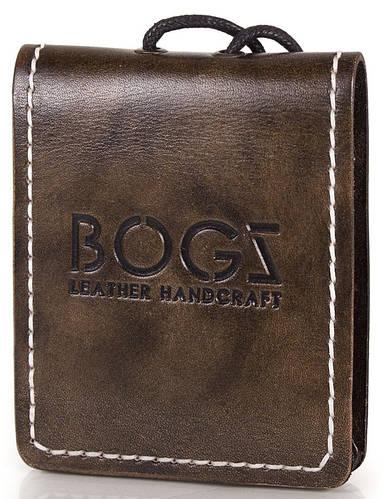 Мужское элегантное портмоне из кожи BOGZ (БОГЗ) BZ-4-A115 коричневый