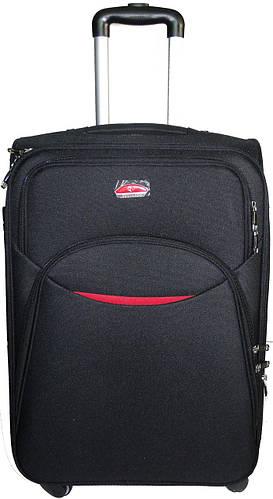 Практичный малый тканевый 4-колесный чемодан 32 л. Suitcase 013753-black черный