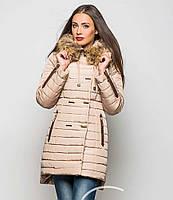 Женский стильный красивый зимний пуховик с мехом (5 цветов)