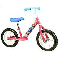 Беговел для девочки Frozen FR121 с подставкой для ног, надувные колеса