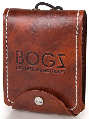 Практичное мужское портмоне из натуральной кожи BOGZ (БОГЗ) BZ-3-A114-plus оранжево-коричневый