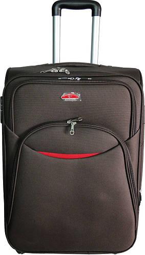 Тканевый 4-колесный чемодан небольшого размера 32 л. Suitcase 013753-brown коричневый