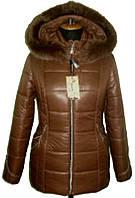 Куртка зимняя короткая с капюшоном