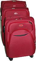 Набор чемоданов 4-колесных 3 шт. Suitcase 013751 красный, хаки, коричневый, серый, черный