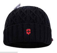 Зимние мужские шапки VICTORINOX. Теплая шапка. Купить шапку унисекс. Оригинальное качество. Код: КЕ204