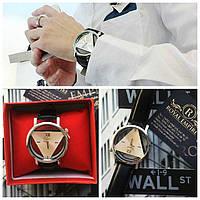 """Часы """"Dgjud"""" мужские черного цвета с треугольником внутри."""