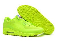 Женские летние кроссовки Nike Air Max 90 Hyperfuse Салатовые Оригинал