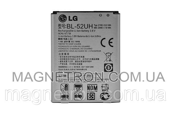 Аккумуляторная батарея BL-52UH Li-ion для телефонов LG 2100mAh EAC62258201, фото 2