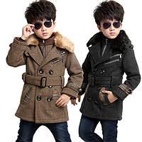 Пальто для мальчика шерстяное