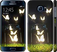 "Чехол на Samsung Galaxy S6 G920 Светящиеся бабочки ""2983c-80"""