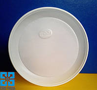 Одноразовые тарелки (Ø=17см) белые (укр), 100шт/уп