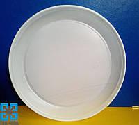 Одноразовые тарелки (Ø=20,5см) белые (укр.), 100шт/уп