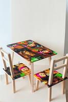 Мебель для девочки Маша: стол и 2 стульчика