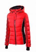 Пуховик женский Snowimage средней длины красный