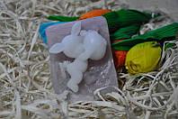 Мыло натуральное ручной работы Мальчик Зайчик 170 грамм
