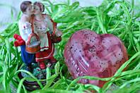 Декоративное мыло ручной работы Розовое сердце 90 грамм