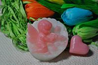 Декоративное мыло ручной работы Ангел с розами 75 грамм