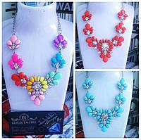 """Ожерелье """"Радуга"""" с кристалликами."""