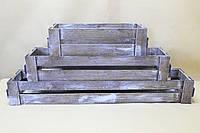 Ящики декоративные для балкона (3 ящика, прямоугольные)