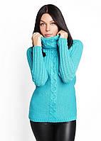 Теплый женский свитер с высоким воротником   Украина