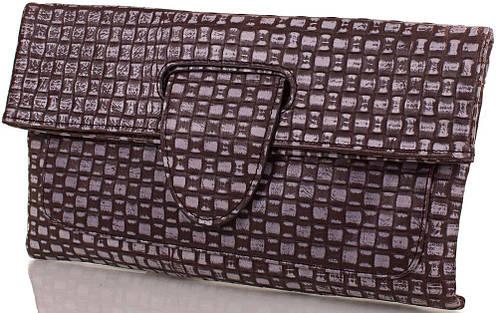 Нестандартный женский кожаный клатч-трансформер ETERNO (ЭТЕРНО), серый, ET15006-1