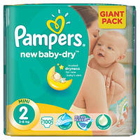 Подгузники Pampers Active Baby Mini 2, 3-6кг 100шт.