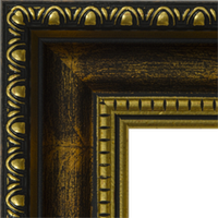 Багетная рама под заказ 3.380-F0094 met matt+2gl (ширина профиля 30 мм). Для икон, картин, зеркал