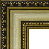Багетная рама под заказ 3.380-ns+gold (ширина профиля 30 мм). Для икон, картин, зеркал